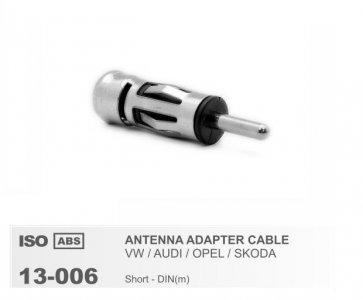 Univerzális antenna adapter iso-din 5 db/csomag