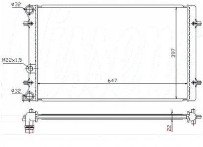 VOLKSWAGEN HŰTŐ GOLF 4 1.4I 16V- (NISSENS 65201A (650X414X34) GOLF4-BORA-OCTAVIA-)