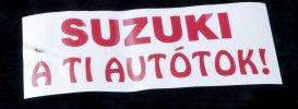 Matrica - Suzuki a ti autótok (szélvédőre)