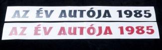 Matrica szélvédőre - Az év autója 1985