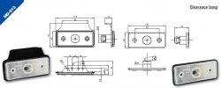 Szélességjelző 12V/24Vtéglalap alakú fehér 2 LED merci sprinter 110 mm x 45 mm