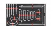 Szerszámos Kocsi Tálca Pipakulcs, Csuklós Dugókulcs, Önindítókulcs És T-Kulcs Készlet 29Db