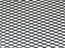 Tuning hűtőrács 100x25 - fekete nagy lyukú