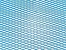 Tuning hűtőrács 100x25 - kék kis lyukú