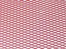 Tuning hűtőrács 100x25 - piros kis lyukú